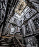 Stairwell ornate abandoned building