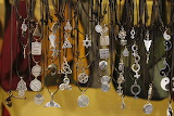 Necklaces at midieval market