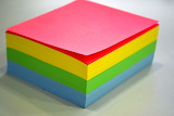 ^ Colorful Post-It Notes