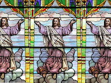 Jesus, stained glass