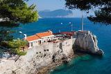 Petrovac city Montenegro sea front