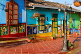 Colombia-colored houses