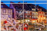 Christmas at Colmar, France, striped