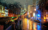 Saint Petersburg, Griboyedov canal, rain