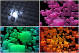 Collage- Colorful cubes