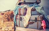 suitcases, retro