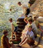 Boys Bathing by Harold Harvey 1932