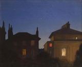 "Art tumblr windypoplarsroom ""Summer Night (The rooftops of Carlt"