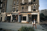 Burnt-out shops South Bronx 1977