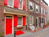 ^ Elfreth's Alley in Philadelphia, Pennsylvania