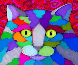 ☺♥ Colorful cat...