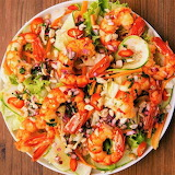 #Vietnamese Shrimp Salad with Peanut Dressing