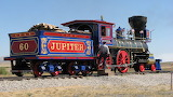 The Vintage Jupiter Steam Locomotive Out of the Snow USA
