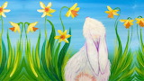Easter Bunny in Spring