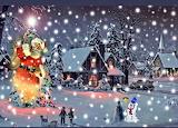 Christmas Santa Scene