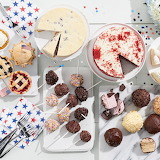 ^ Cheesecake, gelato pops, mini pies