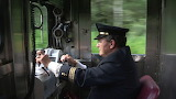 Train Conductor at Work in Brazil