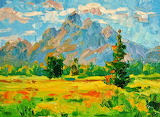 #Mountain Meadow Abstract Painting