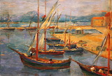 Boats in the Port of St Tropez - Jozef Pankiewicz 1902