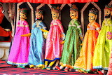 Various small 194 colourful dolls