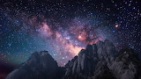 Milky Way over the Huangshan Mountains in China