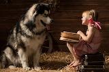 Dogs Little girls Book 475734