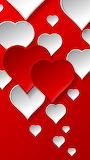 ^ Red and white hearts