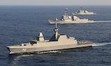 Singapore Frigate RSS Stalwart & US DDGs