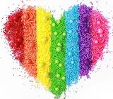 Rainbow Sprinkles Heart