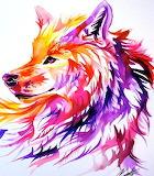 Sunset wolf, credit: lucky978(dA)