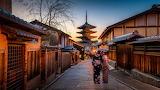 Kyoto japan sunrise