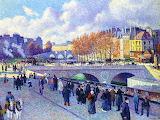 The Seine at Pont Saint-Michel~ Maximilien Luce autumn