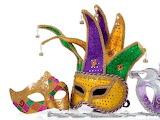 ^ Mardi Gras masks