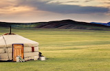 Steppe en Mongolie