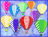 Hot Air Balloons- collage