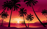 Easy palm trees