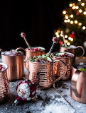 More Pomegranate and Peppermint Moscow Mules