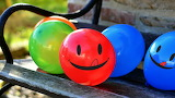Balloons with smile
