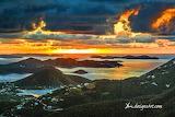 Sunset anchor bay st. John Virgin Islands