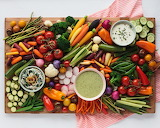 ^ Vegetables and dip board