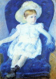 Mary Cassat, Elsie in a blue chair, 1880