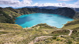 Laguna Quilotoa In The Andes Mountains Ecuador