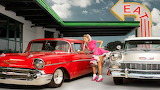 cars, girl, retro