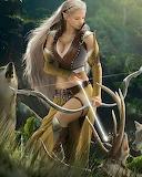 Vrouw jagen