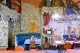 Kitschy Dollar Decor in Oatman Bar