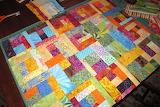 Colorful scrap quilt