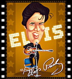 Elvis Cartoon Poster
