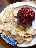 Pomegranate cheeseball