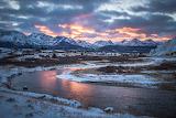November sunset Stanley Idaho