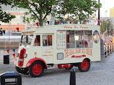 Mobile ice cream parlor, Liverpool, UK